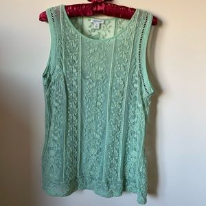 Sundance Sleeveless Lace Top with Cami. Size S